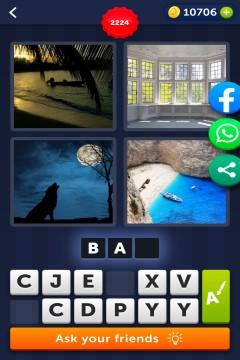 4 Pics 1 Word level 2224