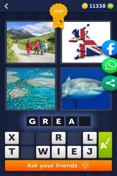 4 Pics 1 Word level 2343
