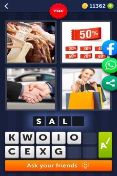 4 Pics 1 Word level 2346