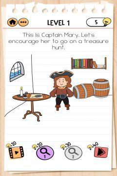 Brain Test 2 Captain Mary level 1
