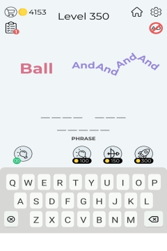 Dingbats Word Quiz level 350