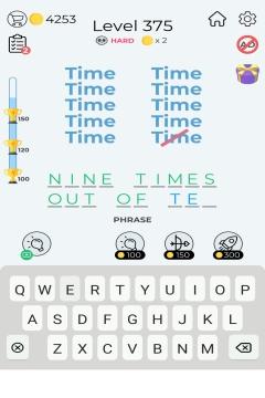 Dingbats Word Quiz level 375