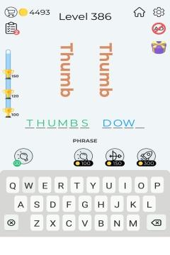 Dingbats Word Quiz level 386