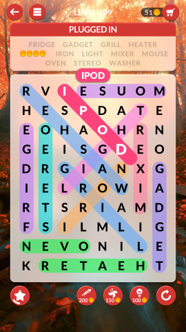 wordscapes search level 109