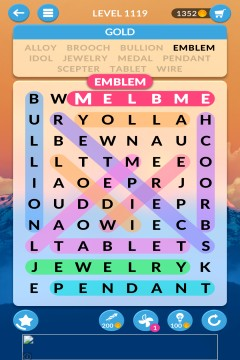 wordscapes search level 1119