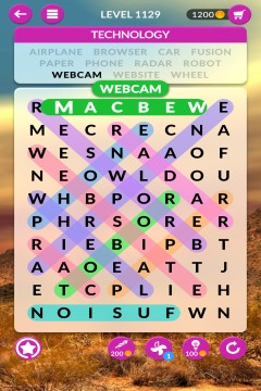 wordscapes search level 1129
