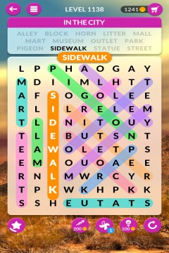 wordscapes search level 1138