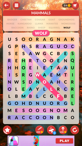 wordscapes search level 116