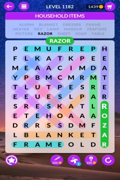 wordscapes search level 1182