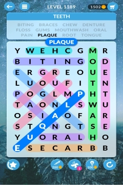 wordscapes search level 1189