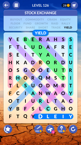 wordscapes search level 126