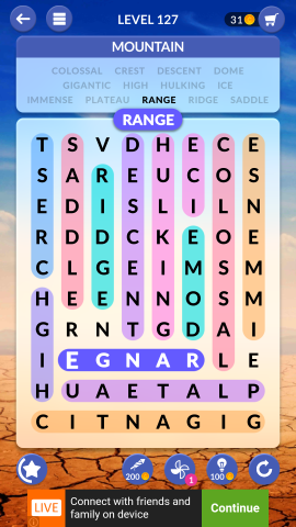 wordscapes search level 127