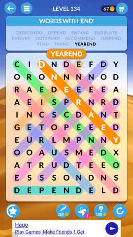 wordscapes search level 134