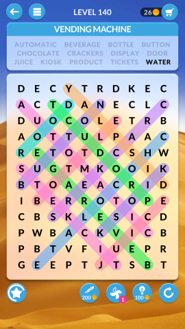 wordscapes search level 140