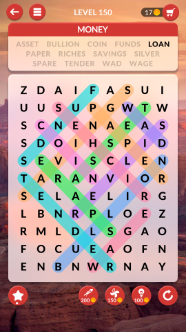 wordscapes search level 150