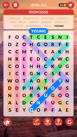 wordscapes search level 154