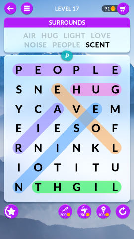 wordscapes search level 17