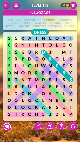 wordscapes search level 172