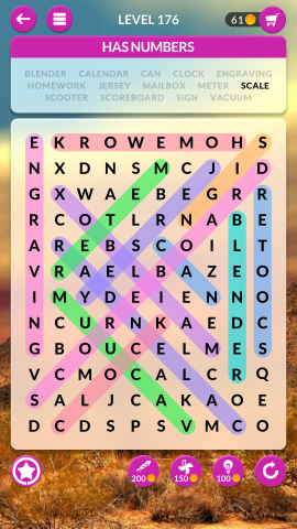 wordscapes search level 176
