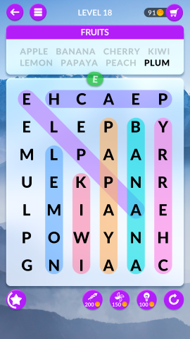 wordscapes search level 18