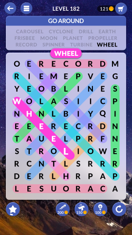 wordscapes search level 182