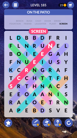 wordscapes search level 185