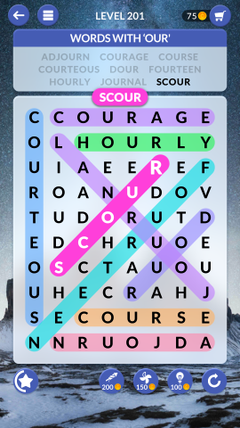wordscapes search level 201