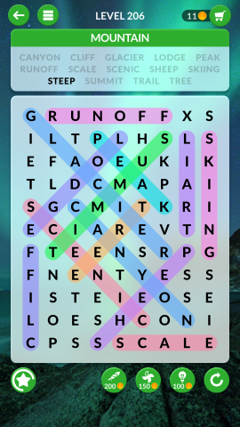 wordscapes search level 206