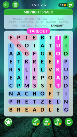 wordscapes search level 207