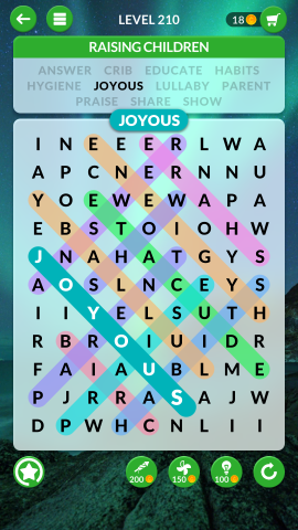 wordscapes search level 210