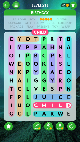 wordscapes search level 211