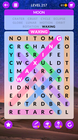 wordscapes search level 217
