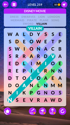 wordscapes search level 219