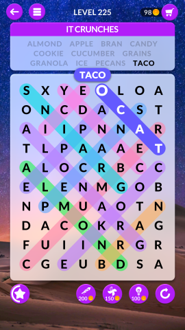 wordscapes search level 225