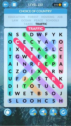 wordscapes search level 233