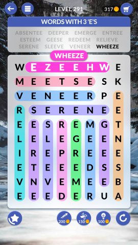 wordscapes search level 291