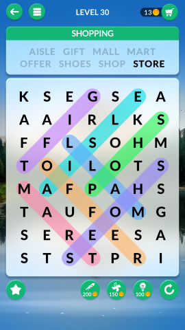 wordscapes search level 30