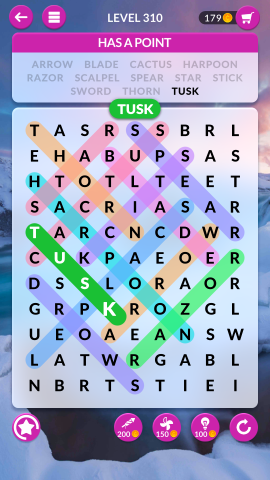 wordscapes search level 310