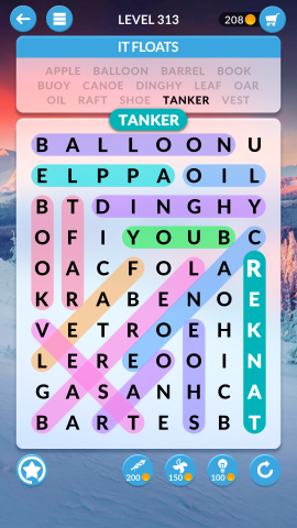 wordscapes search level 313