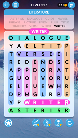 wordscapes search level 317