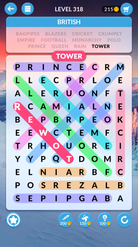 wordscapes search level 318