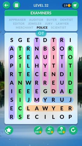 wordscapes search level 32