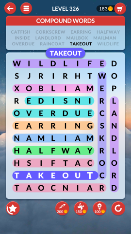 wordscapes search level 326