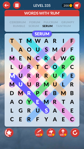 wordscapes search level 335