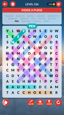 wordscapes search level 336
