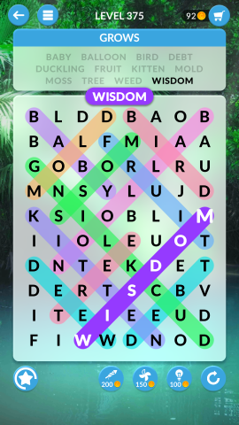 wordscapes search level 375