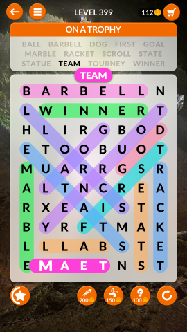 wordscapes search level 399
