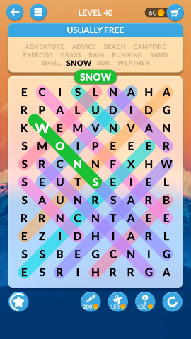 wordscapes search level 40