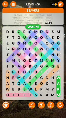 wordscapes search level 408