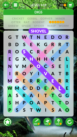 wordscapes search level 418